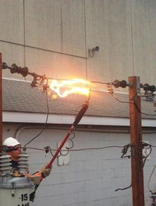Powerline Demonstration by Southern Illinois Electric Coop