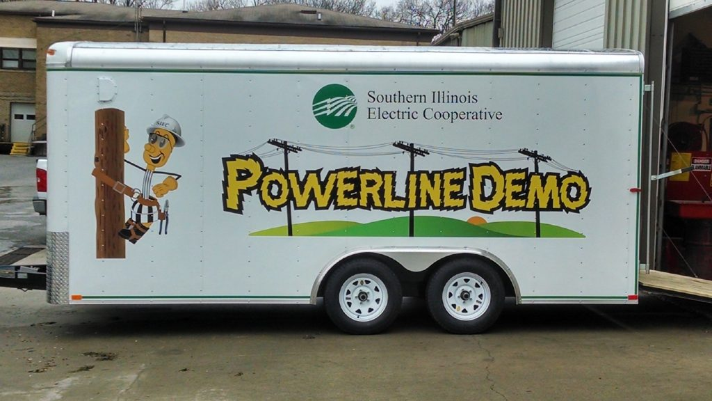 Powerline Demonstration Mobile Rig by Southern Illinois Electric Coop